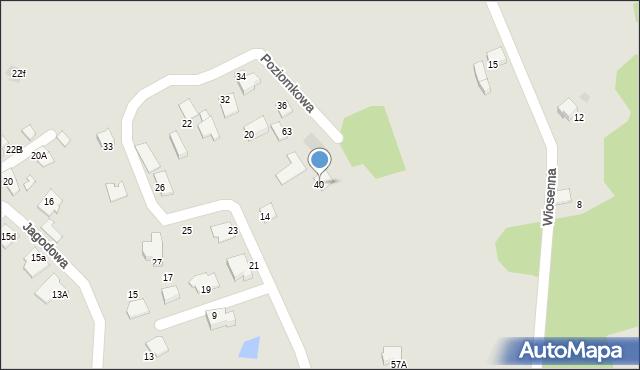 Mikołów, Poziomkowa, 40, mapa Mikołów