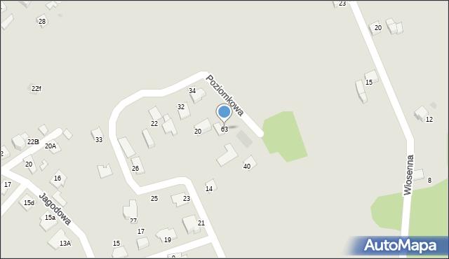 Mikołów, Poziomkowa, 63, mapa Mikołów
