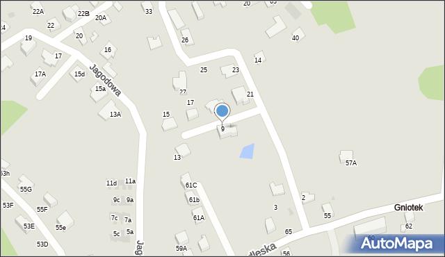 Mikołów, Poziomkowa, 9, mapa Mikołów