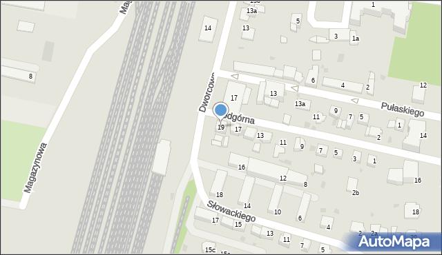 Mogilno, Podgórna, 19, mapa Mogilno