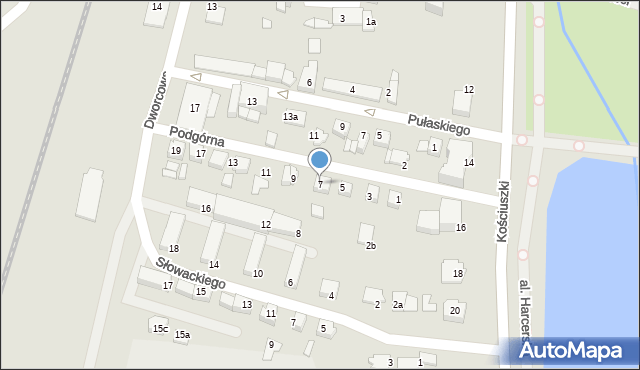 Mogilno, Podgórna, 7, mapa Mogilno