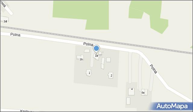 Mrozów, Polna, 1a, mapa Mrozów