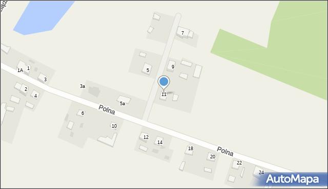 Nowa Wieś, Polna, 11, mapa Nowa Wieś
