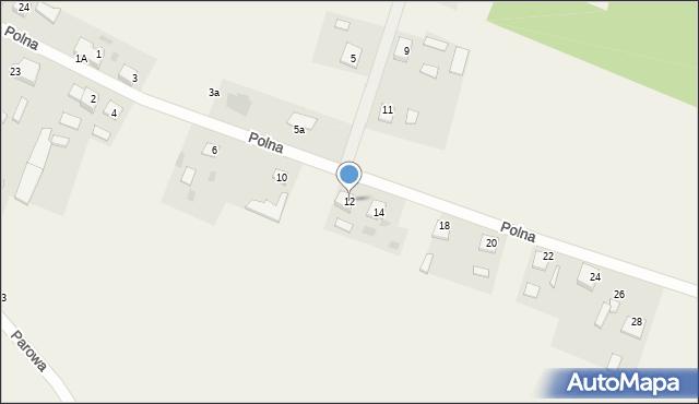 Nowa Wieś, Polna, 12, mapa Nowa Wieś