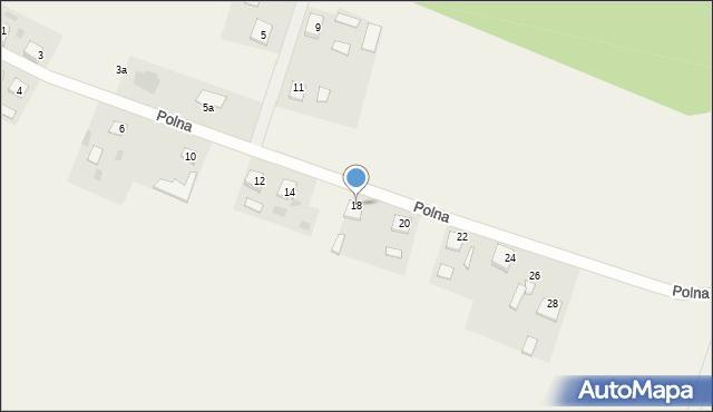 Nowa Wieś, Polna, 18, mapa Nowa Wieś