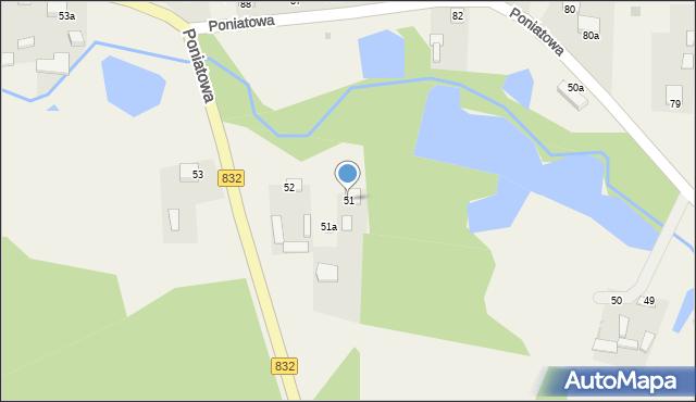 Poniatowa, Poniatowa, 51, mapa Poniatowa