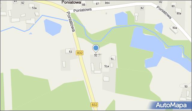 Poniatowa, Poniatowa, 52, mapa Poniatowa