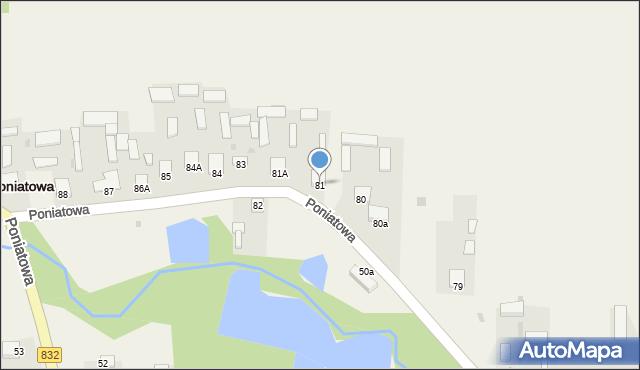 Poniatowa, Poniatowa, 81, mapa Poniatowa