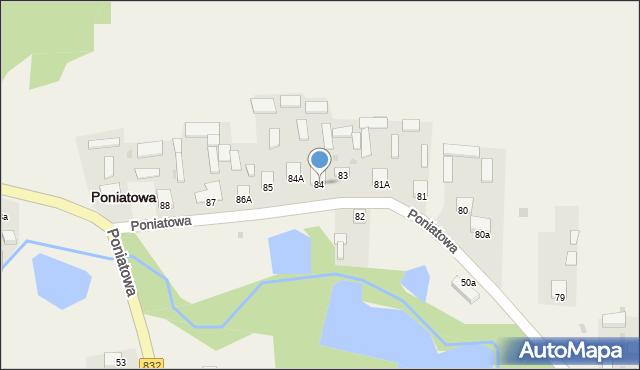 Poniatowa, Poniatowa, 84, mapa Poniatowa