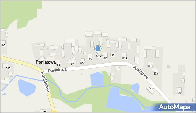 Poniatowa, Poniatowa, 84A, mapa Poniatowa