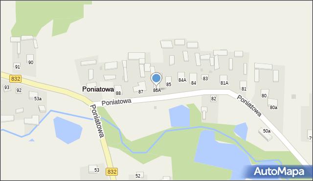 Poniatowa, Poniatowa, 86A, mapa Poniatowa