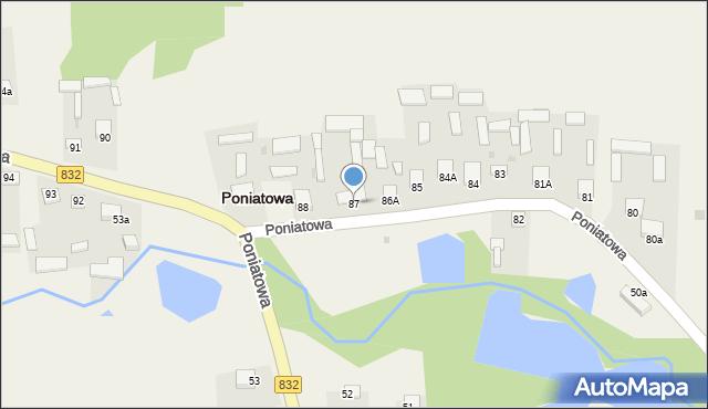 Poniatowa, Poniatowa, 87, mapa Poniatowa