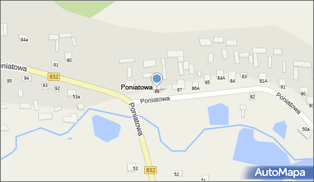 Poniatowa, Poniatowa, 88, mapa Poniatowa