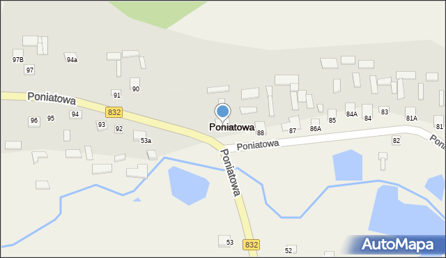 Poniatowa, Poniatowa, 89, mapa Poniatowa