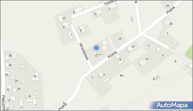 Potępa, Polna, 11, mapa Potępa