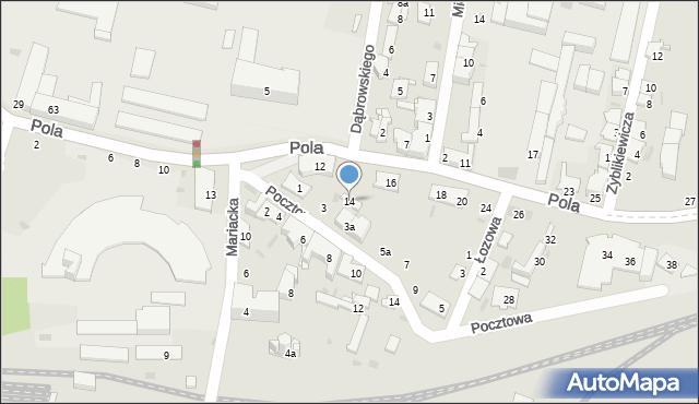 Przemyśl, Pola Wincentego, 14, mapa Przemyśla