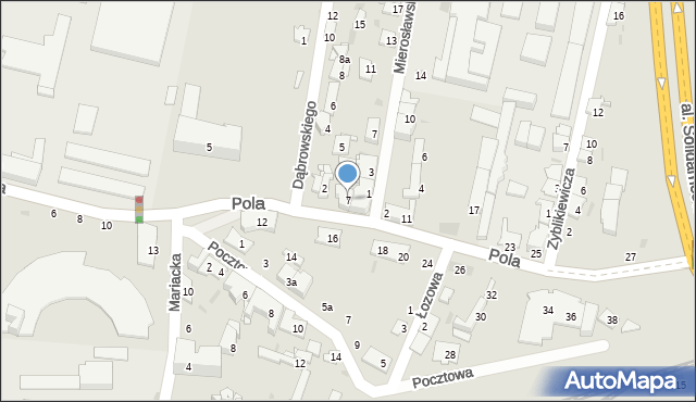 Przemyśl, Pola Wincentego, 7, mapa Przemyśla