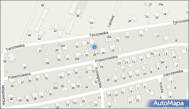 Radom, Potworowska, 18, mapa Radomia