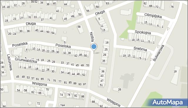 Radom, Poselska, 3, mapa Radomia