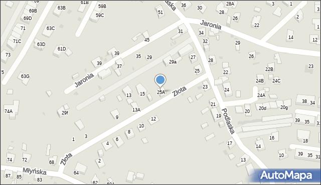 Ruda Śląska, Podlaska, 25A, mapa Rudy Śląskiej