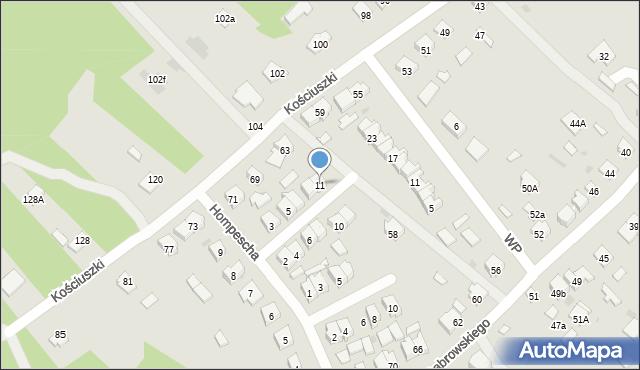 Rudnik nad Sanem, Powstańców Styczniowych, 11, mapa Rudnik nad Sanem