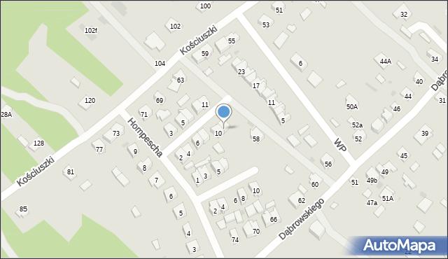 Rudnik nad Sanem, Powstańców Styczniowych, 12, mapa Rudnik nad Sanem