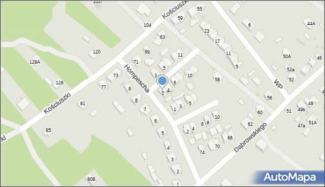 Rudnik nad Sanem, Powstańców Styczniowych, 2, mapa Rudnik nad Sanem