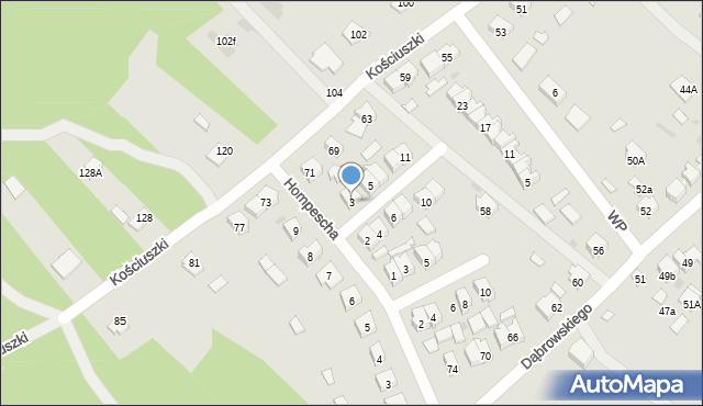 Rudnik nad Sanem, Powstańców Styczniowych, 3, mapa Rudnik nad Sanem