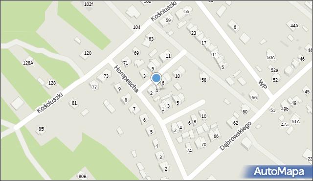 Rudnik nad Sanem, Powstańców Styczniowych, 4, mapa Rudnik nad Sanem