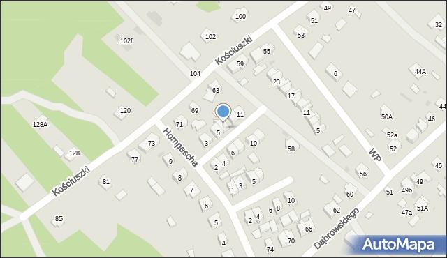 Rudnik nad Sanem, Powstańców Styczniowych, 7, mapa Rudnik nad Sanem