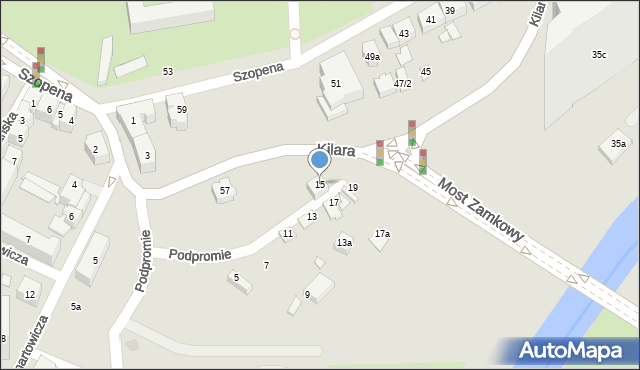 Rzeszów, Podpromie, 15, mapa Rzeszów