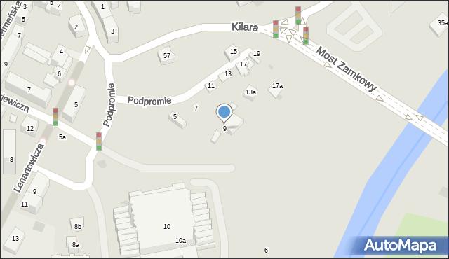 Rzeszów, Podpromie, 9, mapa Rzeszów
