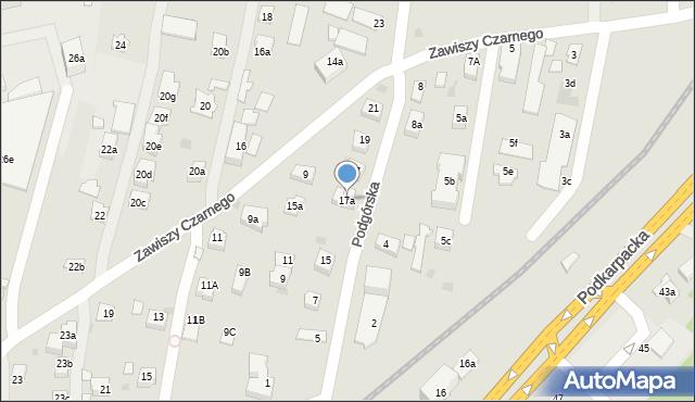 Rzeszów, Podgórska, 17a, mapa Rzeszów