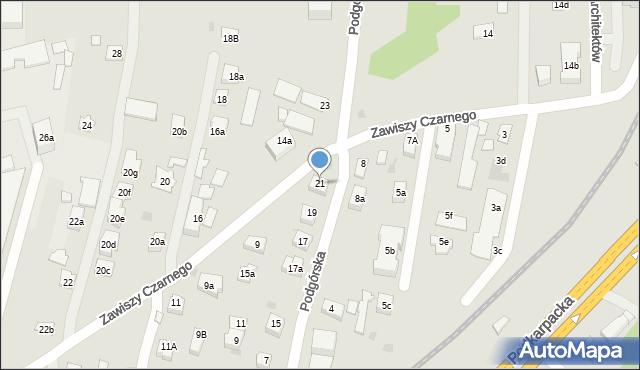 Rzeszów, Podgórska, 21, mapa Rzeszów