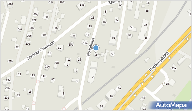 Rzeszów, Podgórska, 4, mapa Rzeszów