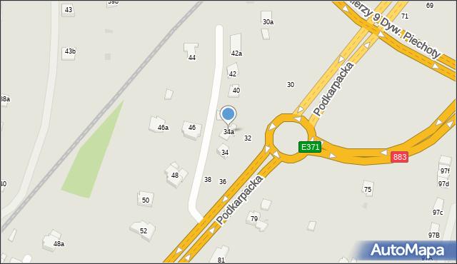 Rzeszów, Podkarpacka, 34a, mapa Rzeszów