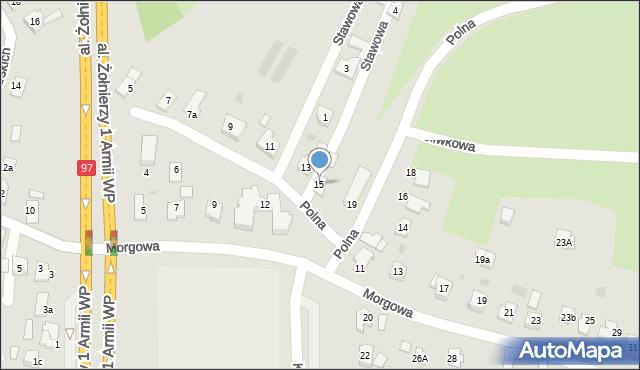 Rzeszów, Polna, 15, mapa Rzeszów