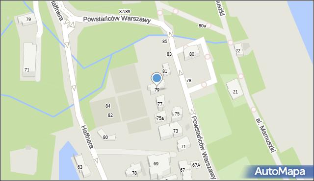 Sopot, Powstańców Warszawy, 79, mapa Sopotu