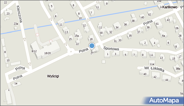 Sopot, Polna, 27, mapa Sopotu