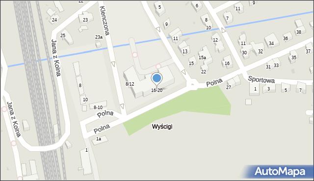 Sopot, Polna, 16/20, mapa Sopotu