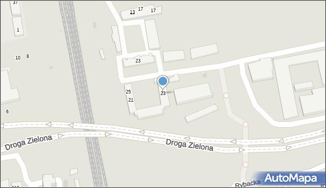 Sopot, Polna, 23, mapa Sopotu