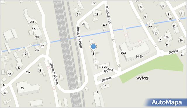Sopot, Polna, 8, mapa Sopotu