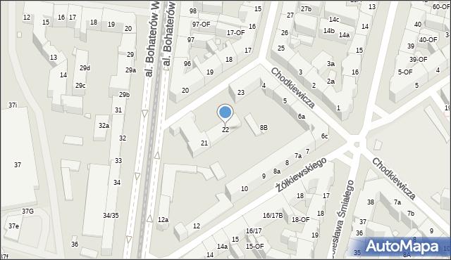 Szczecin, Pocztowa, 22, mapa Szczecina