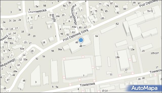 Toruń, Pod Dębową Górą, 46, mapa Torunia
