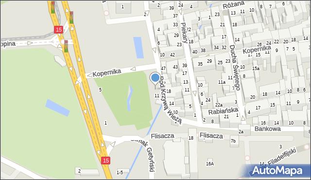 Toruń, Pod Krzywą Wieżą, 13, mapa Torunia