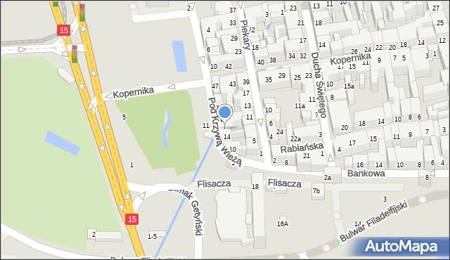 Toruń, Pod Krzywą Wieżą, 16, mapa Torunia