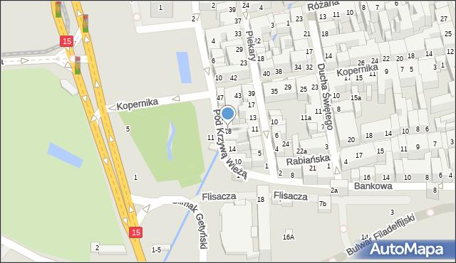 Toruń, Pod Krzywą Wieżą, 18, mapa Torunia