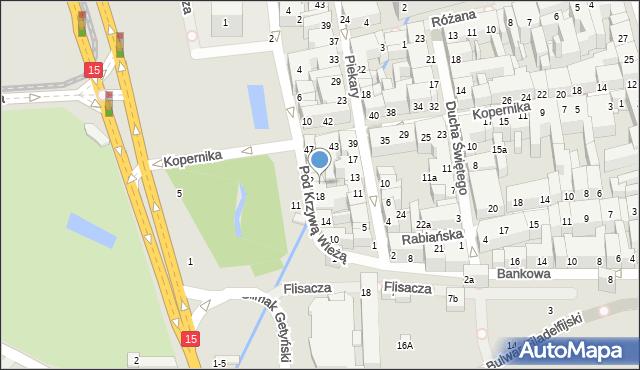 Toruń, Pod Krzywą Wieżą, 20, mapa Torunia