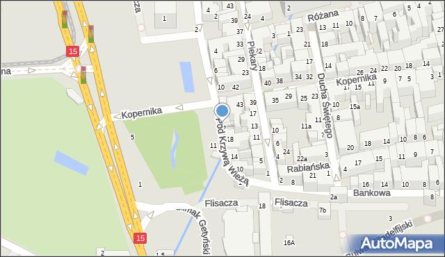 Toruń, Pod Krzywą Wieżą, 22, mapa Torunia