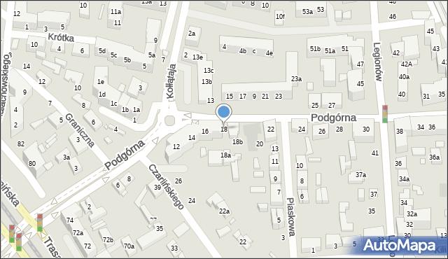 Toruń, Podgórna, 18, mapa Torunia